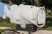 mailbox with fish design in Shell Beach, Louisiana