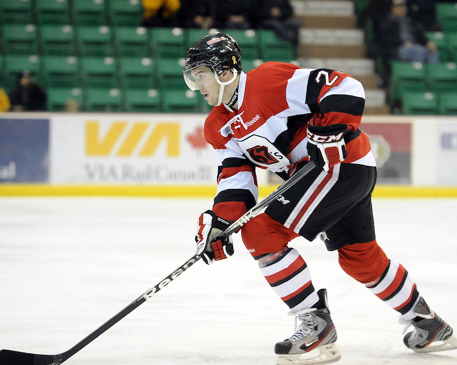 Jake Cardwell of the Ottawa 67's. Photo by Aaron Bell/OHL Images