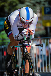 ROGLIC Primoz from Slovenia of Team Lotto NL - Jumbo during his race to 6th, stage 2 (ITT) of the 2016 Eneco Tour at Breda, Noord-Brabant, The Netherlands, 20 September 2016. <br /> Photo by Pim Nijland / PelotonPhotos.com | All photos usage must carry mandatory copyright credit (Peloton Photos | Pim Nijland)