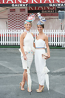 31/07/2014 Repro FreeGabrielle Dunne and Barbara Dunne from Abbeyknockmoy at the Anthony Ryans Best Dressed Ladies day  at the Galway Races Summer Festival  .Photo:Andrew Downes