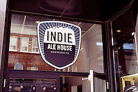 Indie Ale House bar sign at the Junction, Toronto, Canada