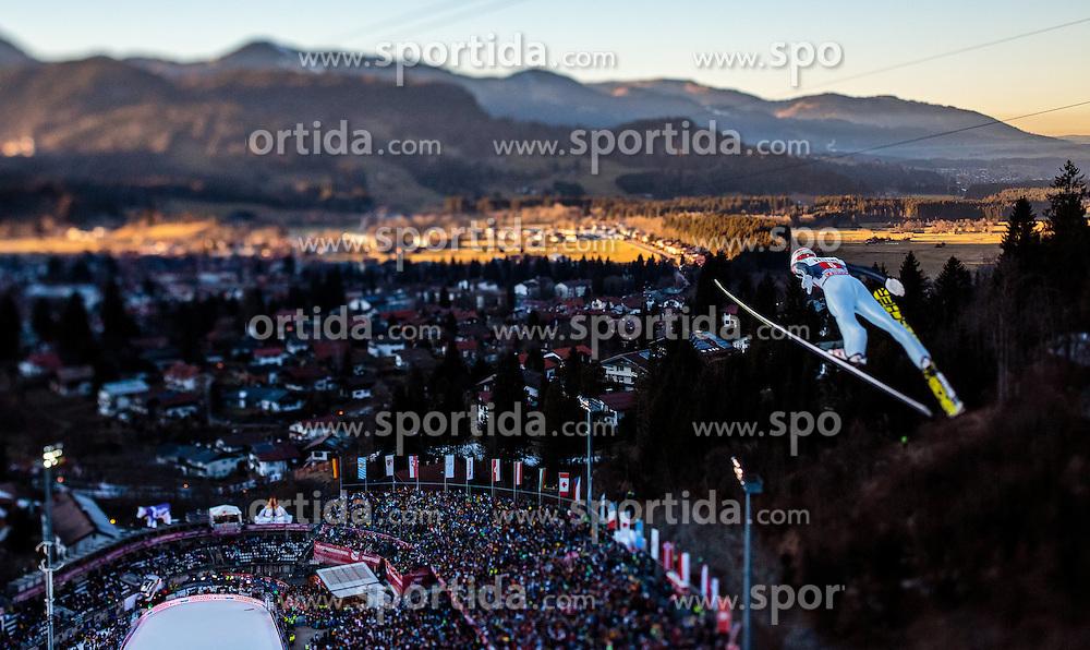 30.12.2016, Schattenbergschanze, Oberstdorf, GER, FIS Weltcup Ski Sprung, Vierschanzentournee, Oberstdorf, Probedurchgang, im Bild Markus Eisenbichler (GER), mit einem Tilt & Shift Objektiv fotografiert // Markus Eisenbichler of Germany photographed with a Tilt & Shift lens during his Trial Jump for the Four Hills Tournament of FIS Ski Jumping World Cup at the Schattenbergschanze in Oberstdorf, Germany on 2016/12/30. EXPA Pictures © 2017, PhotoCredit: EXPA/ JFK