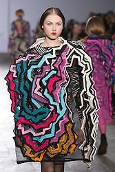 © Licensed to London News Pictures. 28/05/2013. London, England. Knitwear collection by Nathaniel Lyles. Central St Martins BA Fashion show with collections by graduate fashion students. Photo credit: Bettina Strenske/LNP