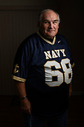 "Highland, Maryland - December 03, 2018: Unbeknownst to him, fifty-four-years-ago, a bet was placed on Naval Academy cadet Greg Horne's benefit, while he was recovering from an injury. Navy lost to Army and he owed Ed Dewey, a West Point cadet, a USNA parka. <br /> <br /> Ed even sent a follow-up letter asking Greg to ""pay-up."" -- but Greg was at sea, and his mail was forwarded to his mother's home. He found the then 52-year-old letter, while he and his siblings cleaned out their late mother's house in 2016. It took some time, but Greg tracked down Ed. <br /> <br /> The parkas are not longer made, so to make good on his bet, he sent Ed a commemorative USNA blanket, similar to one he owns. <br /> <br /> CREDIT: Matt Roth for The New York Times<br /> Assignment ID: 30228001A"