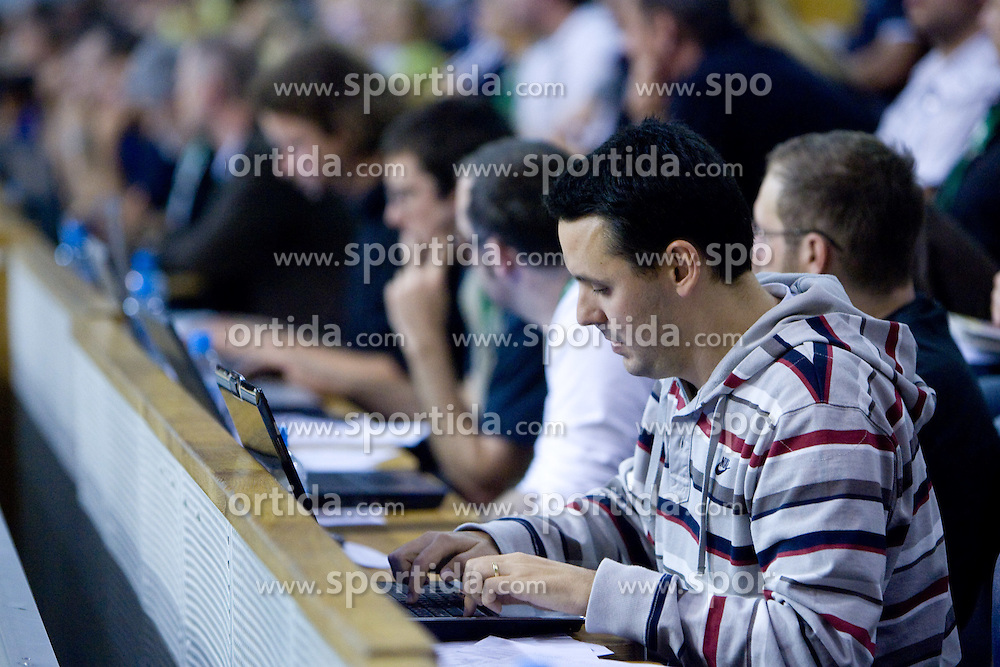 Martin Pavcnik of Siol Sportal at third finals basketball match of Slovenian Men UPC League between KK Union Olimpija and KK Helios Domzale, on June 2, 2009, in Arena Tivoli, Ljubljana, Slovenia. Union Olimpija won 69:58 and became Slovenian National Champion for the season 2008/2009. (Photo by Vid Ponikvar / Sportida)