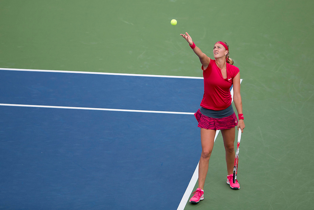 August 23, 2014, New Haven, CT:<br /> Petra Kvitova serves during the singles final against Magdalena Rybarikova on day nine of the 2014 Connecticut Open at the Yale University Tennis Center in New Haven, Connecticut Saturday, August 23, 2014.<br /> (Photo by Billie Weiss/Connecticut Open)