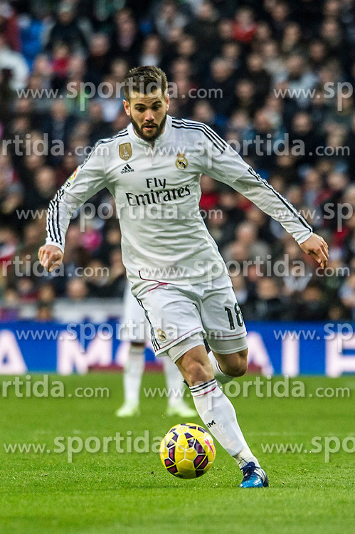 14.02.2015, Estadio Santiago Bernabeu, Madrid, ESP, Primera Division, Real Madrid vs Deportivo La Coruna, 23. Runde, im Bild Real Madrid&acute;s Nacho Fernandez // during the Spanish Primera Division 23rd round match between Real Madrid vs Deportivo La Coruna at the Estadio Santiago Bernabeu in Madrid, Spain on 2015/02/14. EXPA Pictures &copy; 2015, PhotoCredit: EXPA/ Alterphotos/ Luis Fernandez<br /> <br /> *****ATTENTION - OUT of ESP, SUI*****