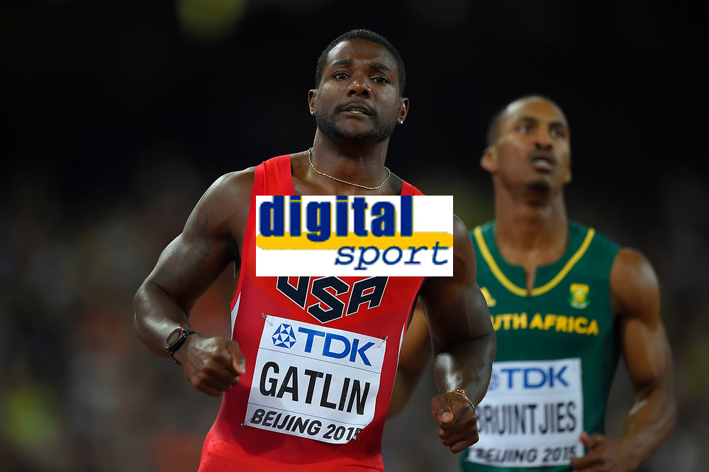 Justin Gatlin (USA) competes in 100 Metres Men during the IAAF World Championships, Beijing 2015, at the National Stadium, in Beijing, China, Day 1, on August 22, 2015 - Photo Julien Crosnier / KMSP / DPPI