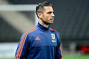 Middlesbrough Striker Kike Sola during the Sky Bet Championship match between Milton Keynes Dons and Middlesbrough at stadium:mk, Milton Keynes, England on 9 February 2016. Photo by Dennis Goodwin.