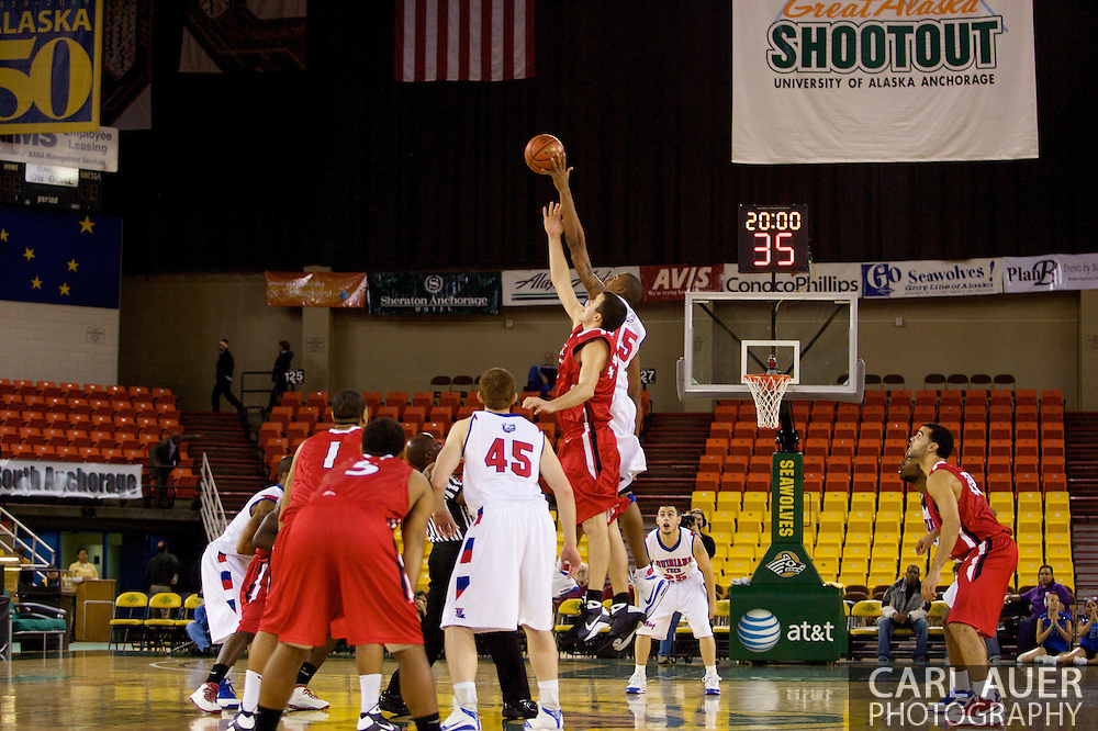 November 27, 2008: Seattle University and Louisiana Tech tip off in the opening round of the 2008 Great Alaska Shootout at the Sullivan Arena.
