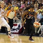 Roneeka Hodges, Tulsa Shock, in action during the Connecticut Sun Vs Tulsa Shock WNBA regular season game at Mohegan Sun Arena, Uncasville, Connecticut, USA. 3rd July 2014. Photo Tim Clayton