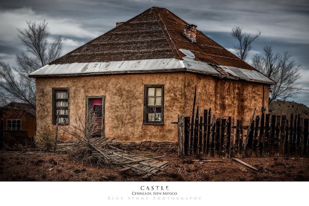 20x30 poster print of an aged adobe house.