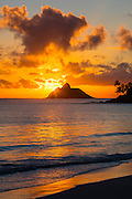 Sunrise, Kailua Beach, Lanikai, Mokolua Island, Oahu, Hawaii