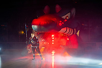 KELOWNA, CANADA - SEPTEMBER 22:  Kyle Pow #21 of the Kelowna Rockets enters the ice against the Kamloops Blazers on September 22, 2018 at Prospera Place in Kelowna, British Columbia, Canada.  (Photo by Marissa Baecker/Shoot the Breeze)  *** Local Caption ***