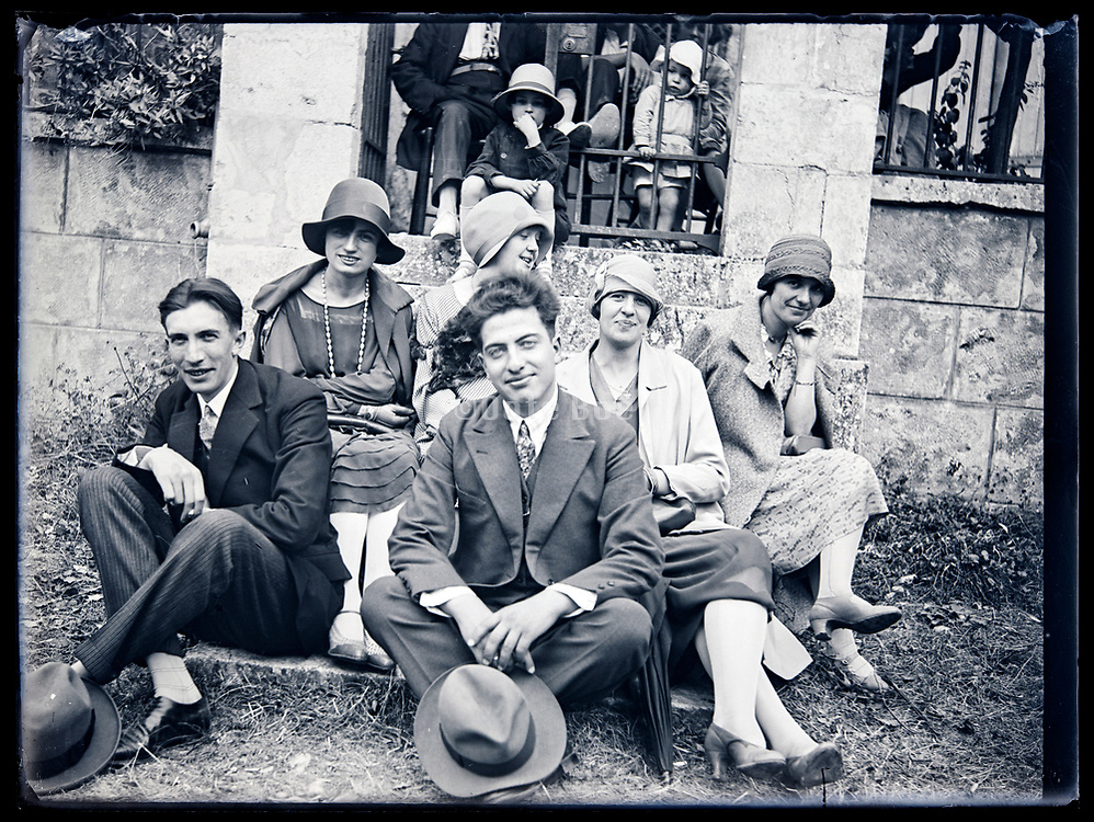 group of young adults casually together circa 1920s