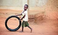 Little boy showing off his skills.<br /> Dimeka, South Ethiopia, 2010