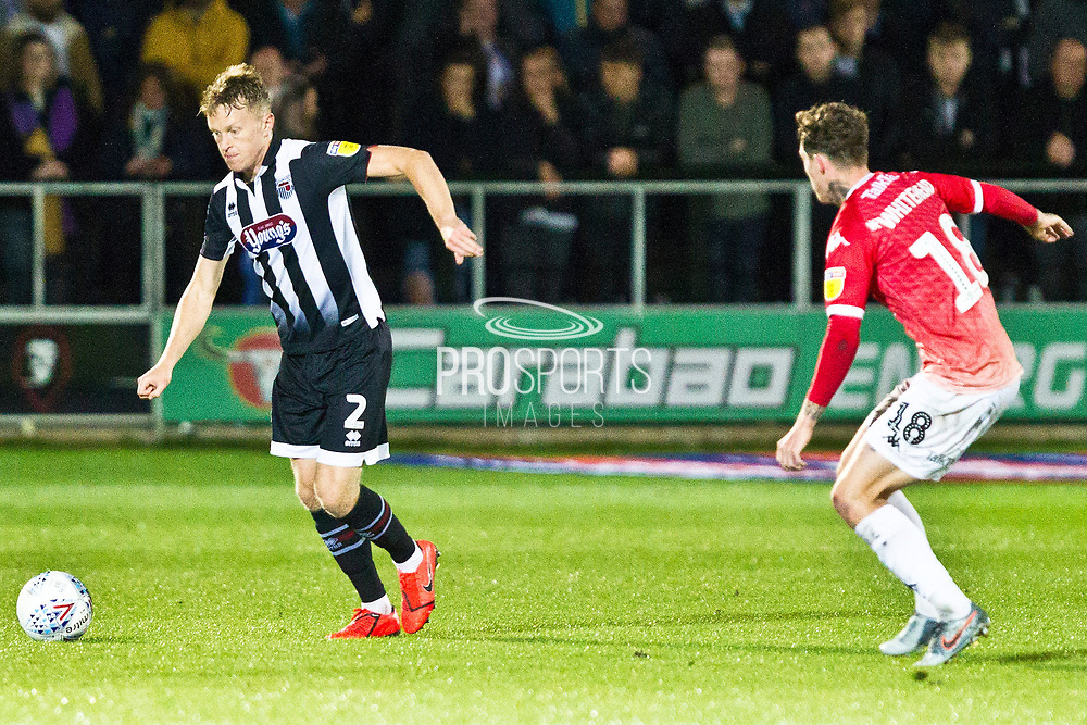 Grimsby Town defender Luke Hendrie in action during the EFL Sky Bet League 2 match between Salford City and Grimsby Town FC at Moor Lane, Salford, United Kingdom on 17 September 2019.
