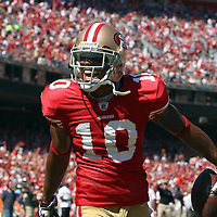 San Francisco 49ers wide receiver Kyle Williams (10) during an NFL football game between the Dallas Cowboys and the San Francisco 49ers at Candlestick Park on Sunday, Sept. 18, 2011 in San Francisco, CA.   (Photo/Alex Menendez)