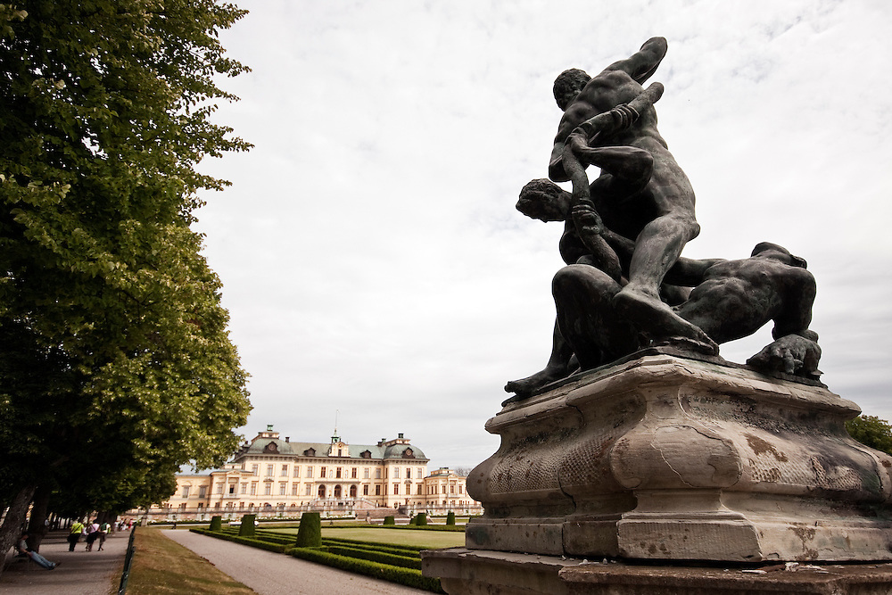 The gardens of Drottningholm Palace which is the private residence of the Swedish royal family