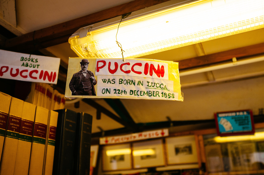 Puccini sign - Lucca, Italy