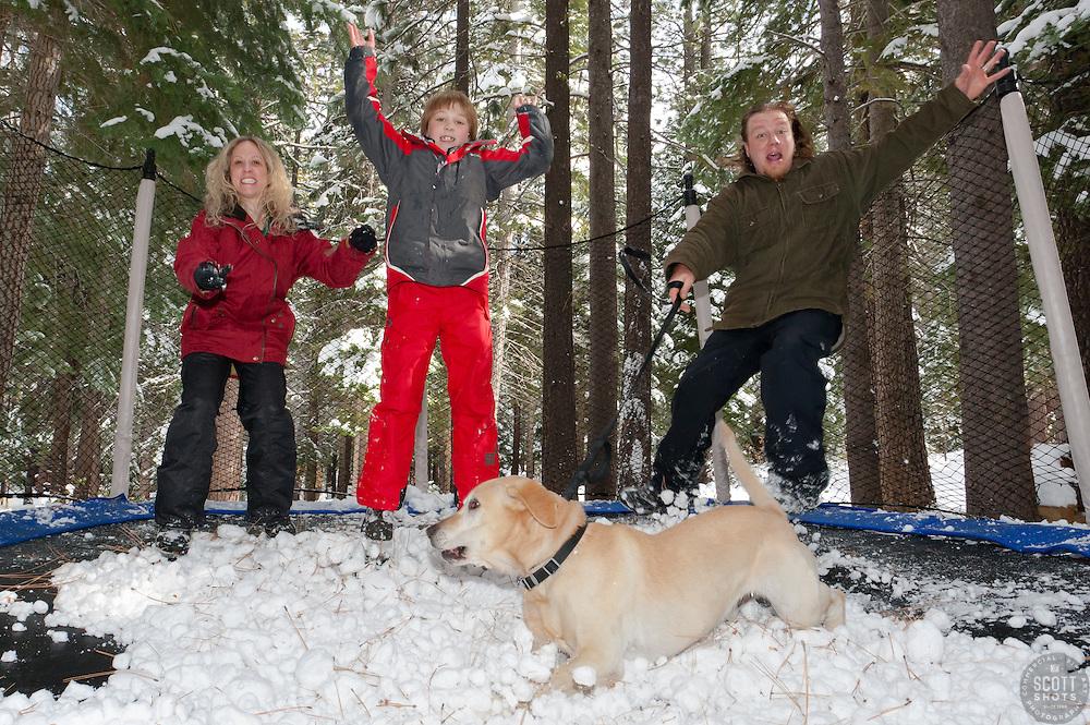Thompson Family 2011 Holiday card photo.