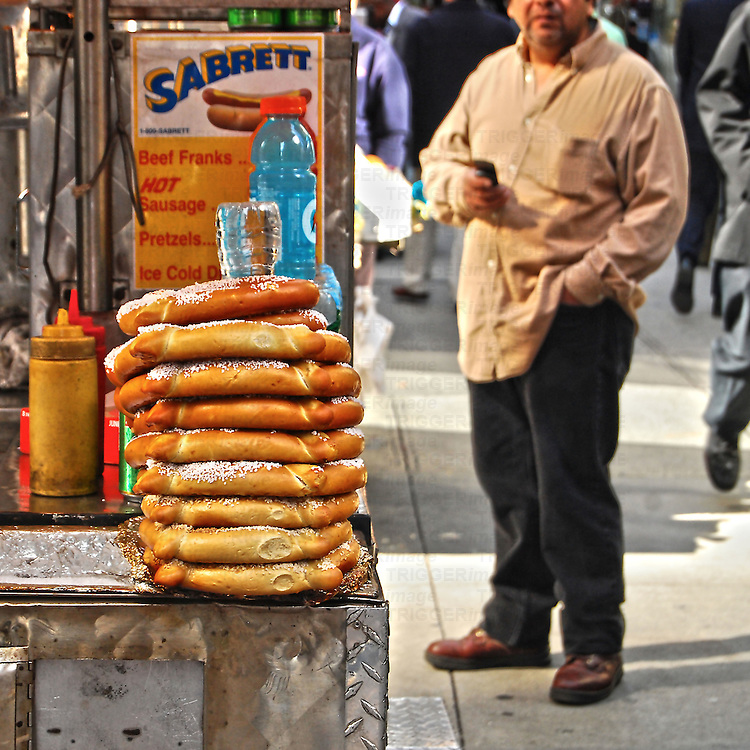 HDR of hot dog stand in midtown Manhattan, New York City.
