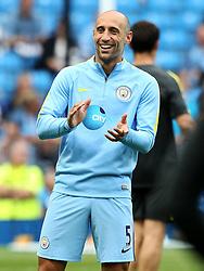 Pablo Zabaleta of Manchester City warms up - Mandatory by-line: Matt McNulty/JMP - 13/08/2016 - FOOTBALL - Etihad Stadium - Manchester, England - Manchester City v Sunderland - Premier League