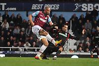 Football - The Championship - West Ham United vs. Middlesbrough<br /> John Carew - west ham Seb Hines - MBoro