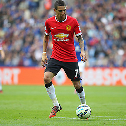 Manchester United's Angel Di Maria during the Barclays Premiership match between Leicester City FC and Manchester United FC, at the King Power Stadium, Leicester, 21st September 2014 © Phil Duncan | SportPix.org.uk