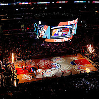 22 November 2015: General view of the Staples Center court during the Toronto Raptors 91-80 victory over the Los Angeles Clippers, at the Staples Center, Los Angeles, California, USA.