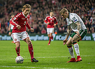 FOOTBALL: Peter Ankersen (Denmark) and James McClean (Ireland) during the World Cup 2018 UEFA Play-off match, first leg, between Denmark and the Republic of Ireland at Parken Stadium on November 11, 2017 in Copenhagen, Denmark. Photo by: Claus Birch / ClausBirch.dk.