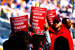 Show racism the red card signs - Mandatory by-line: Ryan Crockett/JMP - 04/05/2019 - FOOTBALL - Stadium MK - Milton Keynes, England - Milton Keynes Dons v Mansfield Town - Sky Bet League One