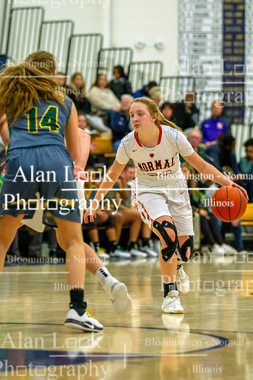 23 November 2019:  Girls Intercity tournament - University High Pioneers v Normal Ironmen at Central Catholic in Bloomington IK