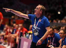 Lino Cervar, head coach of Croatia, during the handball match between National teams of Serbia and Croatia in Group A of Men's EHF EURO 2020 on January 13, 2020 in Stadhalle Graz, Graz, Austria
