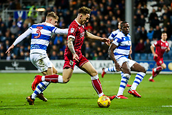 Josh Brownhill of Bristol City is challenged by Jake Bidwell of Queens Park Rangers - Rogan/JMP - 23/12/2017 - Loftus Road - London, England - Queens Park Rangers v Bristol City - Sky Bet Championship.