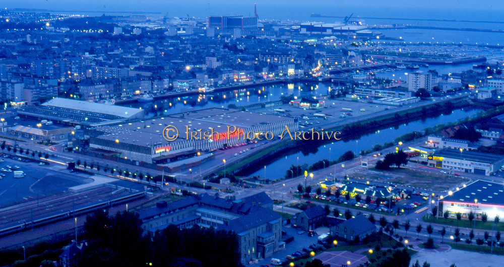 France, Normandy. Cherbourg, view from Fort du Roule at night.