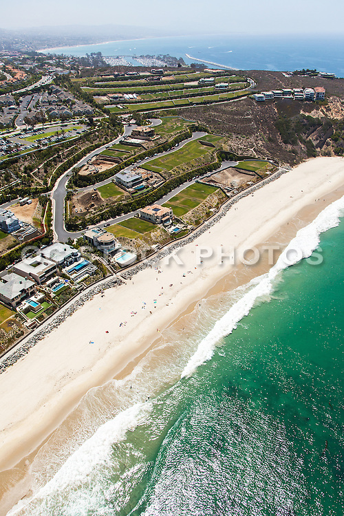 Aerial Stock Photo of The Strand at Headlands Looking South