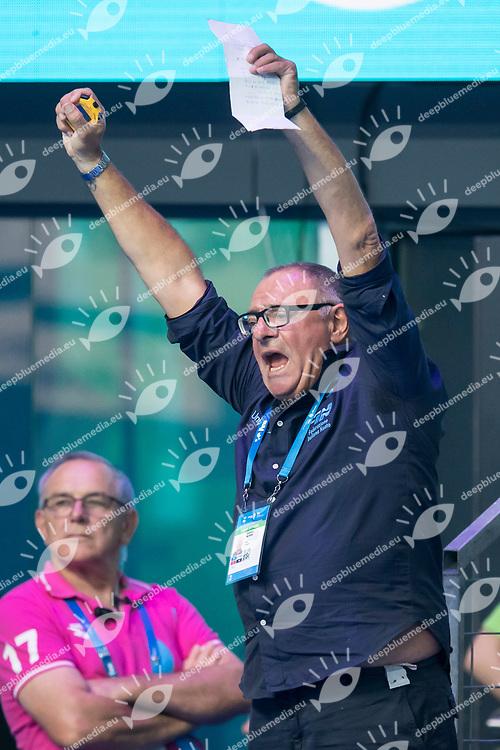 Stefano MORINI ITA Coach <br /> Men's 1500m Freestyle <br /> Swimming  <br /> 30/07/2017 <br /> XVII FINA World Championships Aquatics<br /> Duna Arena Budapest Hungary <br /> Photo Andrea Staccioli/Deepbluemedia/Insidefoto
