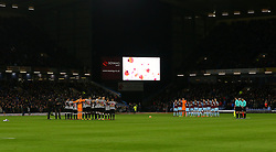 A minutes silence is observed for Remembrance Day at Burnley v Newcastle United - Mandatory by-line: Robbie Stephenson/JMP - 30/10/2017 - FOOTBALL - Turf Moor - Burnley, England - Burnley v Newcastle United - Premier League
