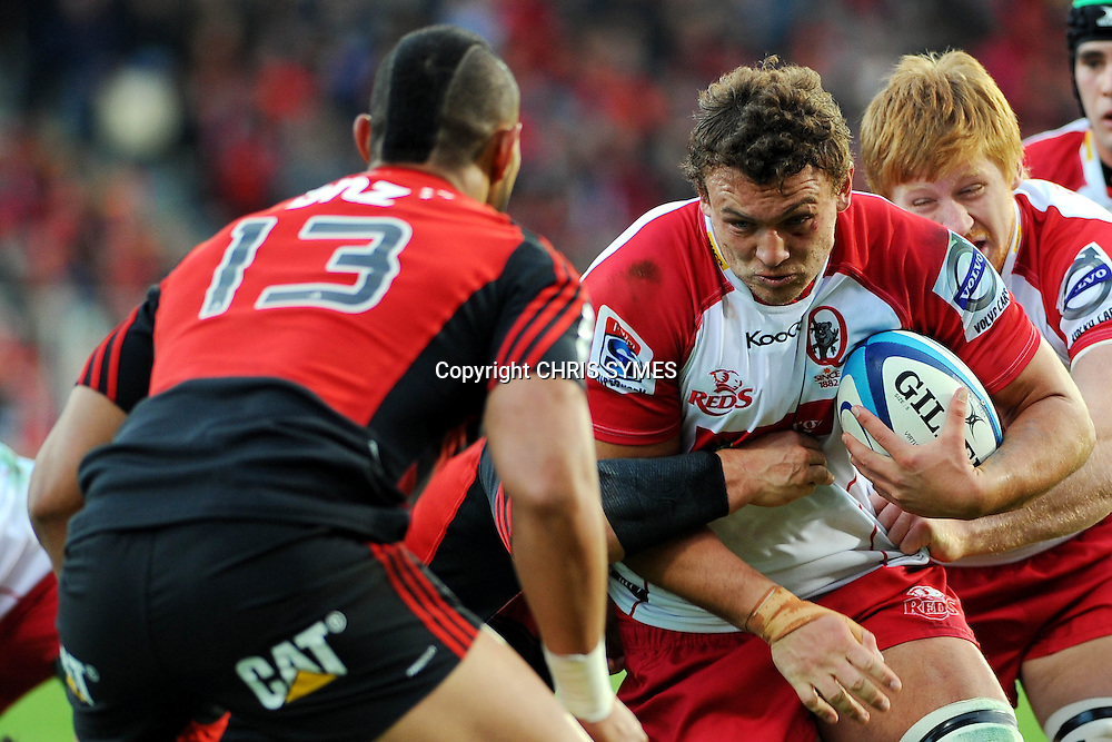 Reds Jake Schatz in action during their Super Rugby game Crusaders v Reds. New AMI Stadium, Addington, Christchurch, New Zealand. Sunday 6 May 2012. Photo: Chris Symes/www.photosport.co.nz