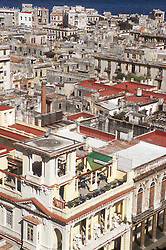 View from the restaurant of the Hotel Sevilla of rooftops in Havana; Cuba,