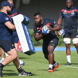 Dany Priso of France during the French Rugby Training Session on May 9, 2018 in Marcoussis, France. (Photo by Anthony Dibon/Icon Sport)