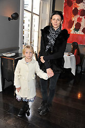 LIBERTY ROSS and her daughter SKYLA SAUNDERS at a children's tea party for the English National Ballet hosted by Mortons Private Members Club, Berkeley Square, London on 20th October 2011.