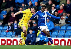 Ollie Clarke of Bristol Rovers takes on Gboly Ariyibi of Chesterfield - Mandatory by-line: Robbie Stephenson/JMP - 26/11/2016 - FOOTBALL - The Proact Stadium - Chesterfield, England - Chesterfield v Bristol Rovers - Sky Bet League One