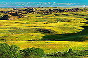 Stitched Panorama of teh Killdeer Badlands<br /> Grasslands National Park<br /> Saskatchewan<br /> Canada