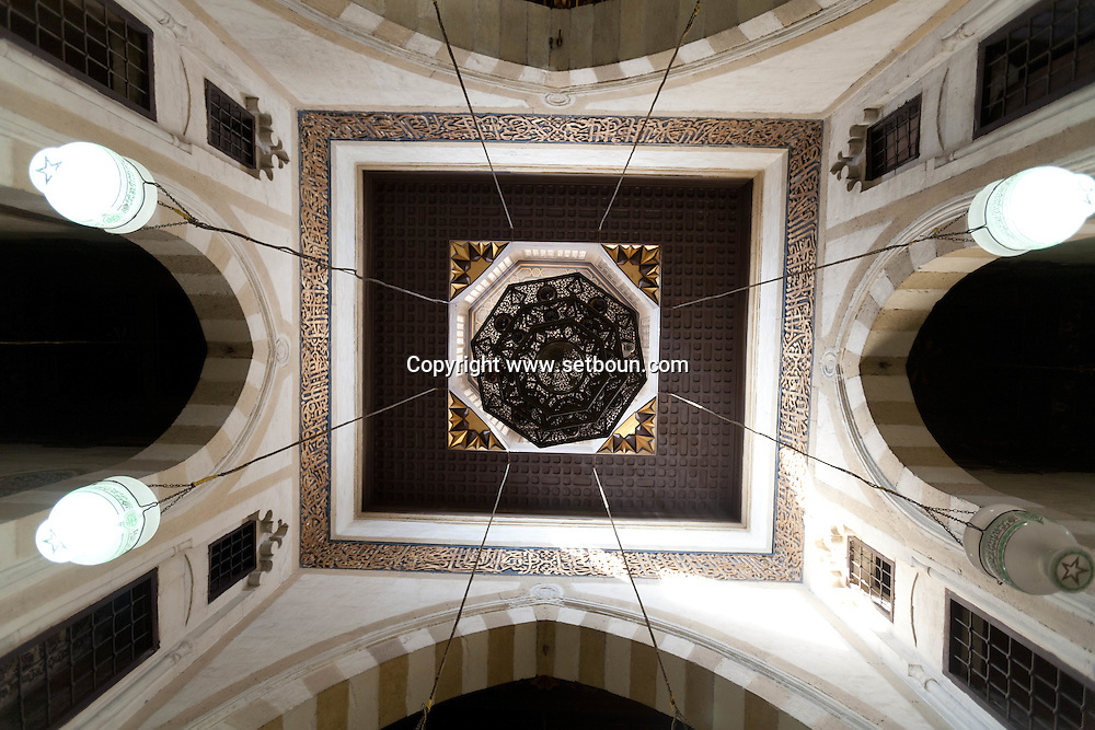 Egypt . Cairo : ceiling of the school in Al Azhar mosque. the madrasa. school.  in islamic Cairo  +