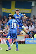 Ryan Sweeney defender for AFC Wimbledon (20) in action during Sky Bet League 2 match between AFC Wimbledon and Newport County at the Cherry Red Records Stadium, Kingston, England on 7 May 2016. Photo by Stuart Butcher.