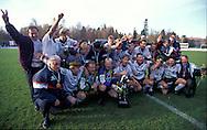 15.10.1995, Valkeakoski, Finland. .Veikkausliiga / Finnish League, FC Haka v Rovaniemen Palloseura.FC Haka - Finnish League Champions 1995..©JUHA TAMMINEN