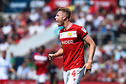 Adam Webster (4) of Bristol City during the EFL Sky Bet Championship match between Bristol City and Nottingham Forest at Ashton Gate, Bristol, England on 4 August 2018. Picture by Graham Hunt.