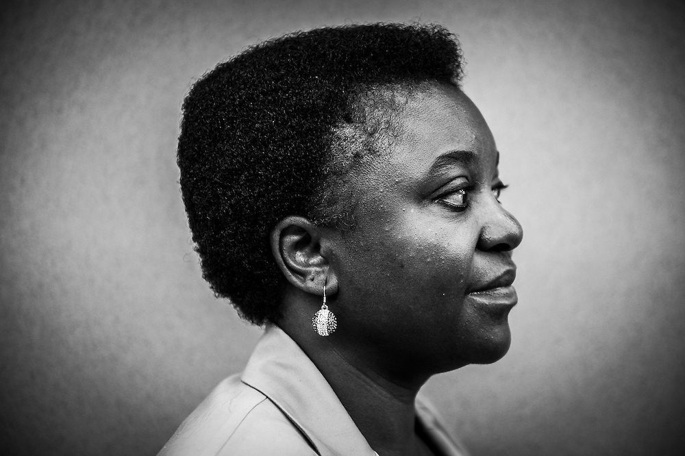 Italian Member of European Parliament, former Cecile Kyenge  poses for portrait  at her office at European Parliament headquarters  in Brussels, Belgium on 07.07.2014 by Wiktor Dabkowski